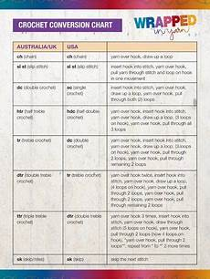 Crochet Stitch Conversion Chart Australia Crochet Conversion Chart Project Spotlight Australia