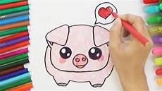 Cute Drawlings How To Draw A Cute Pig Cute And Easy Youtube