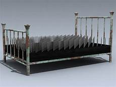 bed of nails 3d model by mesh factory
