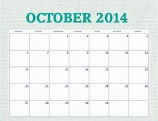 Writable Calendar Free Printable October 2014 Calendar