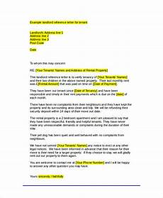 Tenant Letter Of Recommendation Free 6 Sample Tenant Recommendation Letter Templates In