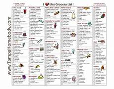 Printable Grocery List By Category Grocery List Blank With Graphics And Categories Tampa