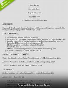 Medical Assistance Resume How To Write A Medical Assistant Resume With Examples