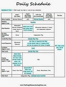 Make Your Own School Schedule Creating A Daily Homeschool Schedule For Multiple Young