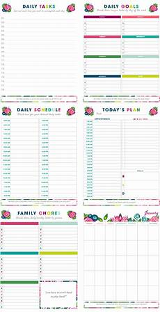 Free Printable Time Management Template 20 Printables To Help Organize Your Life Little House