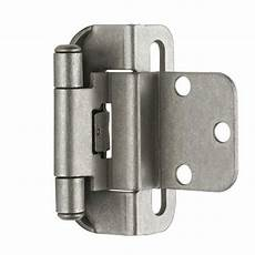 self closing partial wrap cabinet hinge 3 8 quot inset set
