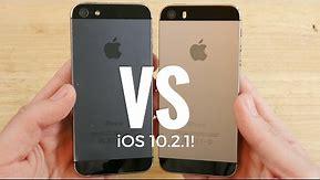 iPhone 5 vs iPhone 5S iOS 10.2.1