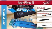 How to replace a battery 🔋 Apple iPhone SE A1662 A1723 A1724