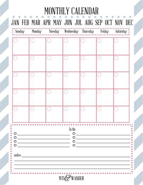 Blank Meal Calendar