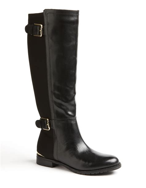 stretch out leather shoes isaac mizrahi amit stretch leather boots in black