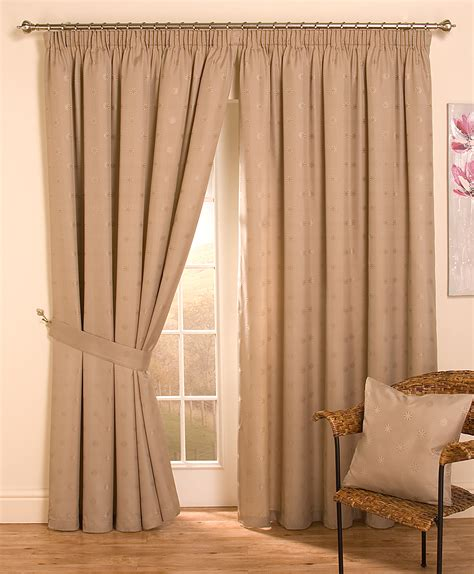lined drapery cheap full lined tape top pencil pleat jacquard curtains