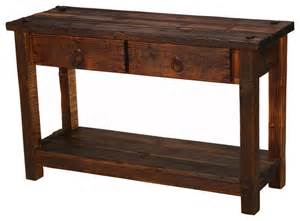 rustic sofa tables rustic heritage 2 drawer sofa table rustic console