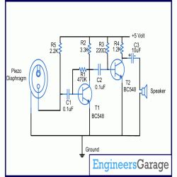 piezoelectric sensor circuit diagram piezo sensor as input engineersgarage