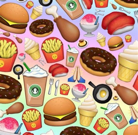 wallpaper cute food food emoji wallpaper wallpapersafari