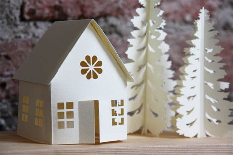 Fold Out Paper Decorations - winter paper decoration 3d p folksy