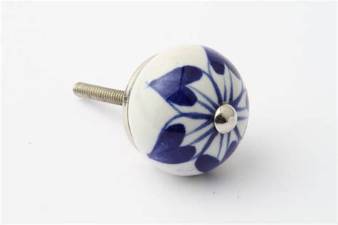 Designer Drawer Knobs by China Flower Design Drawer Knob Grey Interiors