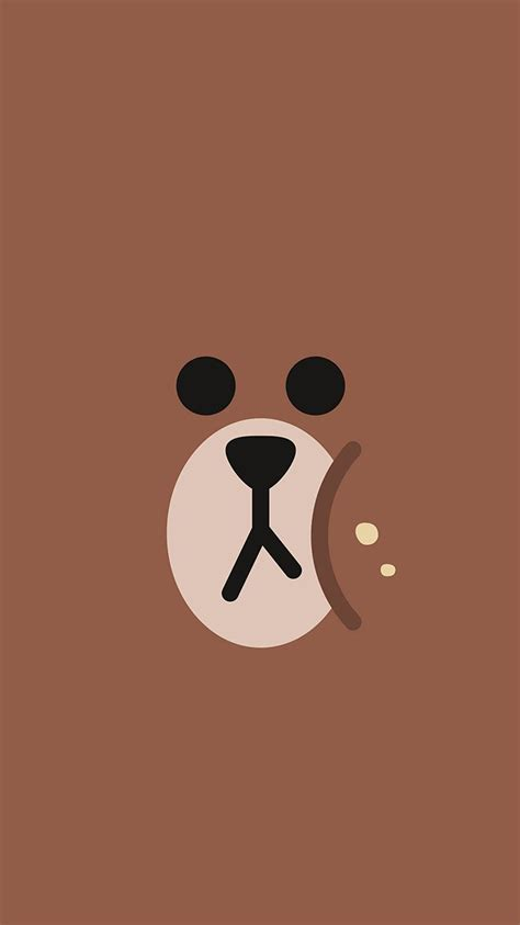 ba  chractor cute brown illustration art wallpaper