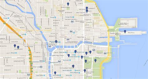 chicago map landmarks chicago downtown neighborhoods