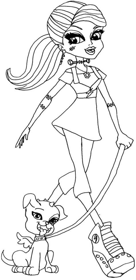 monster high dog coloring pages 17 best images about monster high on pinterest pets