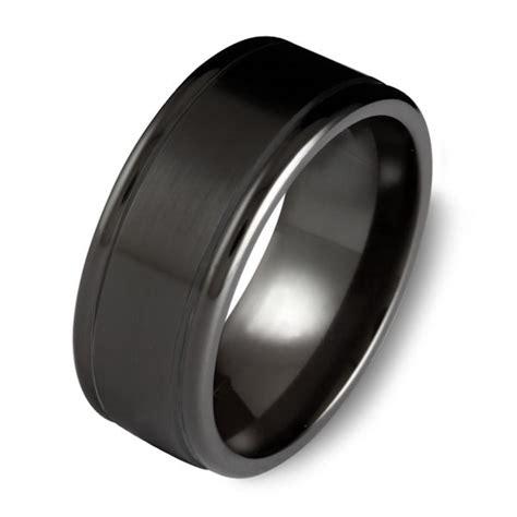c7699c black cobalt chrome classic wedding ring
