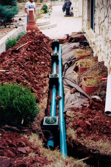 professional yard drainage systems in edmond oklahoma bill s custom concrete oklahoma city s