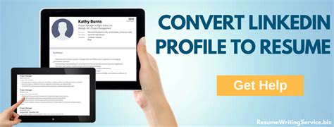 Convert Linkedin To Resume by Create Resume From Linkedin Profile And Boost Your Chances