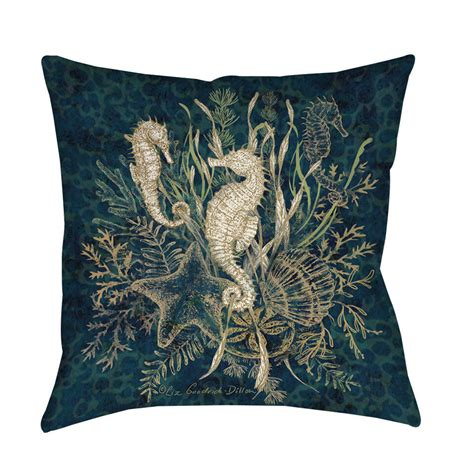 throw pillows on thumbprintz sea vignette throw floor pillow ebay