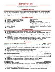 Sle Resume For Purchase Manager by Professional Procurement Manager Templates To Showcase Your Talent Myperfectresume
