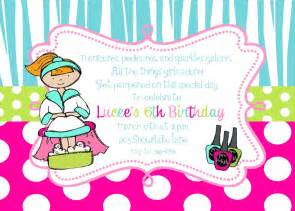 12 spa pamper birthday party invitations with envelopes