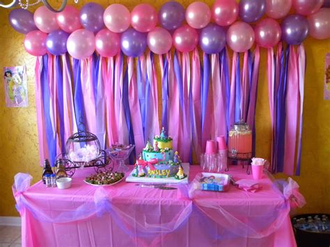 gorgeous disney princess birthday party ideas table