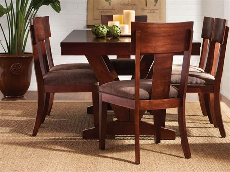 mahogany dining room set studio brown mahogany trestle dining room set from