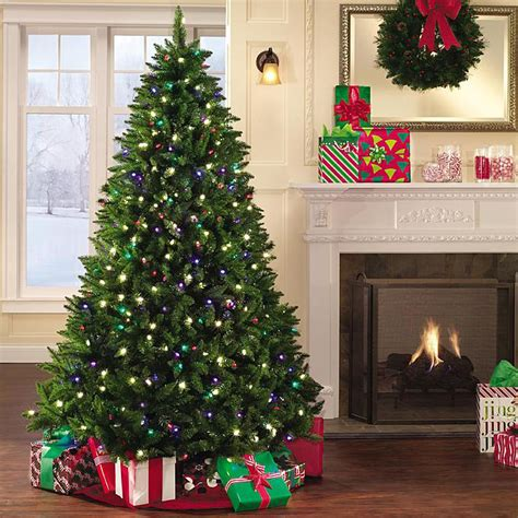 home accents sierra nevada fir tree 75 pre lit tree led colored lights decoratingspecial