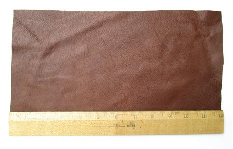Upholstery Leather Piece Cowhide Medium Brown Lt Wt 1 2 Sf