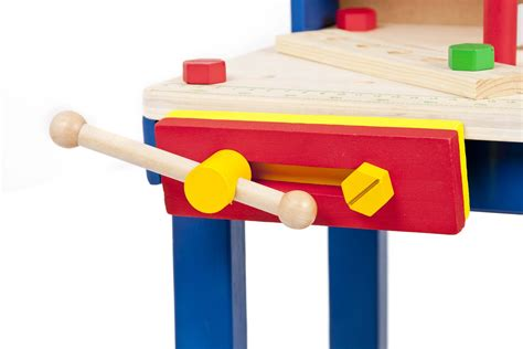 toy wooden tool bench 34 piece wooden tool work bench table tools children s