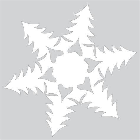 paper christmas tree patterns template paper snowflake pattern with trees cut out template free printable papercraft templates
