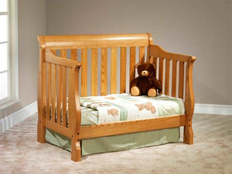Sleigh Slat Convertible Crib Amish Traditions Wv Convertible Sleigh Bed Crib