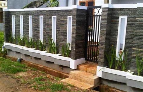 variasi model pagar tembok minimalis menunjang keindahan rumah