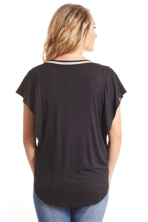 Nelia Top nelia maternity nursing top in black by everly grey