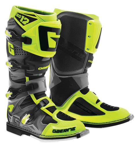yellow motocross boots 421 00 gaerne mens sg 12 mx motocross off road riding