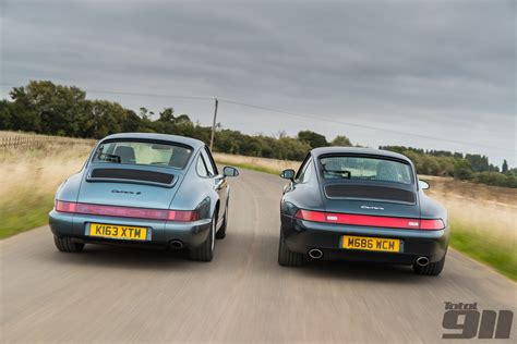 porsche 964 vs 993 ten top photos from total 911 issue 146 total 911