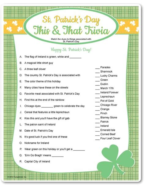 printable games for dementia printable st patrick s day this that trivia c