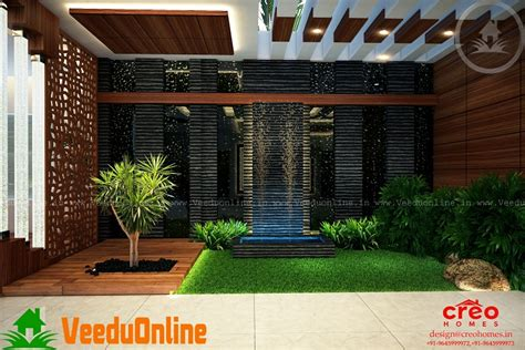 kerala home design with courtyard incredible contemporary interior home designs