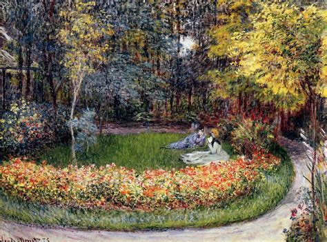 Monet In The Garden in the garden claude monet wikiart org encyclopedia