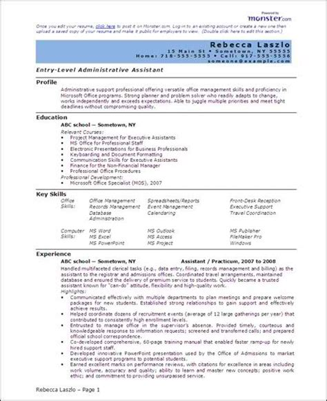 word document resume template free 6 microsoft word doc professional resume and cv