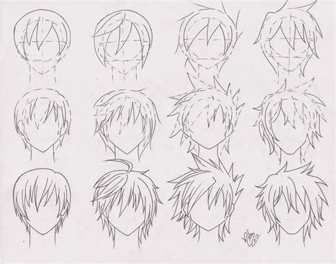 boy haircuts drawing practice hairstyle for boys 01 by futagofude 2insroid