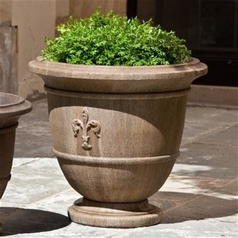 Exterior Planters Large by Cania International Fleur De Lis Large Cast Urn Planter P 573 Al