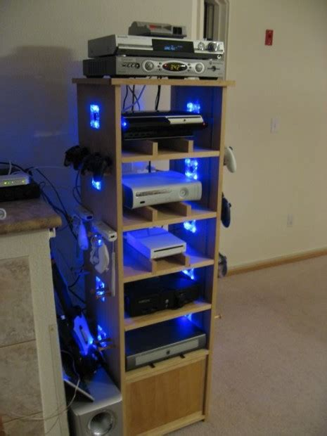 video game console cabinet awesome cabinet for a gaming geek