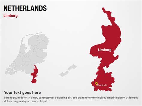 netherlands limburg map limburg netherlands powerpoint map slides limburg