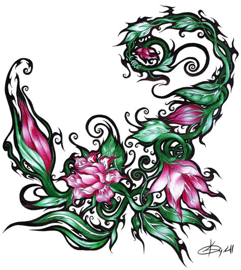 scorpio flower tattoo designs flower scorpion vol 2 by koggg on deviantart