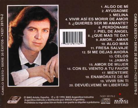 www mejor musica de camilo sesto exitos de camilo sesto mejor m 250 sica